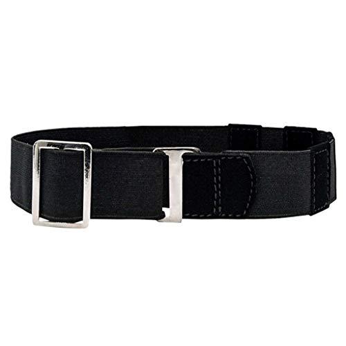 Qingell Adjustable Stretch Belt: Non-Slip Backing Stretch Belt Invisible Elastic Web Strap Belt for Jeans Pants Dresses Black