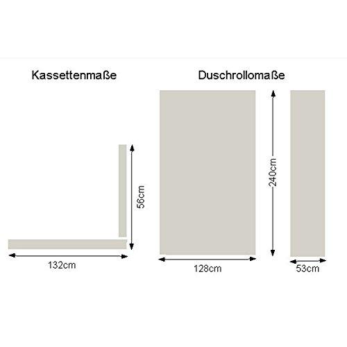 Design Mosaik Grau passenden Leerkassetten Kleine Wolke Eckduschrollo Duschrollo inkl 56 x 240cm 132