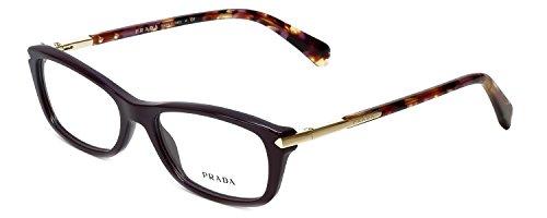 Prada Designer Eyeglasses VPR04P-ROM1O1 in Burgundy 52mm DEMO - Red Pradas