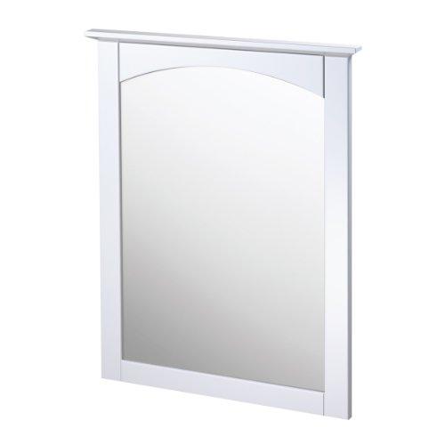 Foremost COWM2431 Columbia 25-Inch White Bathroom Mirror