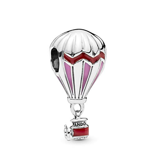 PANDORA Red Hot Air Balloon 925 Sterling Silver Charm - 798055ENMX