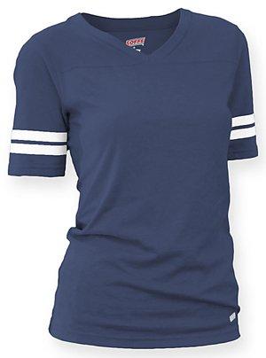 Soffe Womens The Training T-Shirt - Navy 239V - V-neck Tee Football