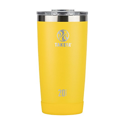 Takeya Actives Insulated Stainless Tumbler with Flip Lid, 20oz, Solar by Takeya