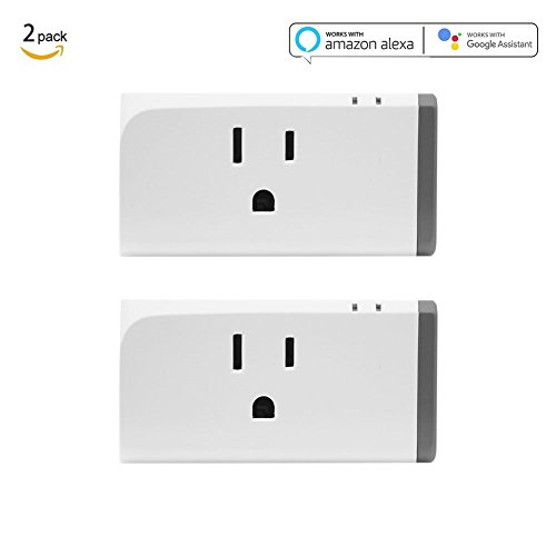 Sonoff S31 Smart Plug 2-Pack with Energy Monitoring, Wi-Fi Mini Outlet Control your Devices from Anywhere, Works with Alexa and Google Assistant, IFTTT Supported