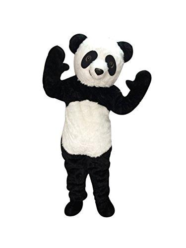 rushopn Adult Size Plush Panda Mascot Costume ()