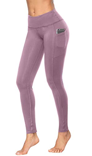 Fengbay High Waist Yoga Pants, Pocket Yoga Pants Tummy Control Workout Running 4 Way Stretch Yoga Leggings Lilac by Fengbay (Image #1)