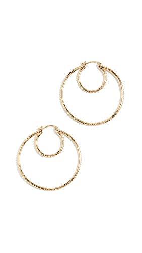 Gold Double Twist Hoop - Gorjana Women's Bali Double Hoops, Gold, One Size