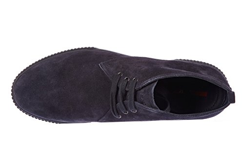 Prada polacchine stivaletti scarpe uomo camoscio blu