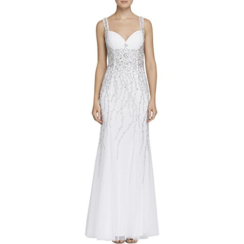 Sean Collection Womens Embellished Full-Length Formal Dress White 2 (Sean Collection Wedding)