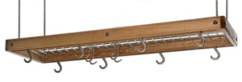 J.K. Adams PRC-03 Hanging Ceiling Pot Rack, Cherry