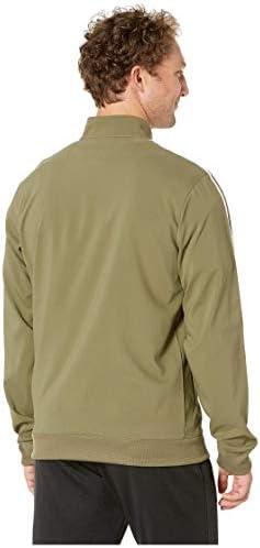 adidas Men's Essentials 3 Stripe Tricot Track Jacket, Raw