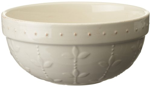 - Signature Housewares Sorrento Collection 90-Ounce Medium Mixing Bowl, Ivory Antiqued Finish