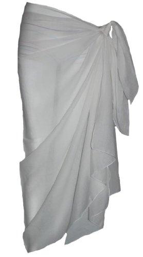Plain White Cotton Sarong
