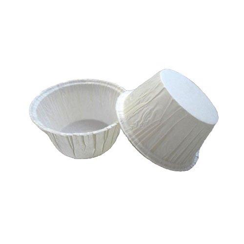 Novacart PBA Baking Cup, White (5000, 2-3/8'' Bottom Diameter, 1-9/16'' Side Wall)
