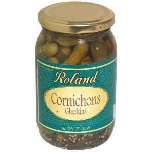 Roland: Cornichons Gherkins 12 Oz (12 Pack) by Roland