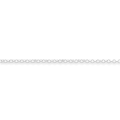 16' Diamond Cut Cable Chain (Roy Rose Jewelry Sterling Silver 1.75mm 8 Side Diamond Cut Cable Chain 16'' length)