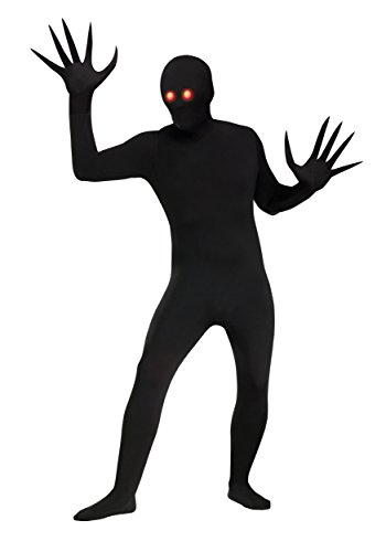 Scary Halloween Costumes For Two People (Fun World Men's Fade Eye Shadow Demon Skin Suit Adult Costume, Black, Plus)