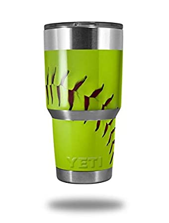 27b0191c6ad Amazon.com | Skin Decal Wrap for Yeti Tumbler Rambler 30 oz Softball ...