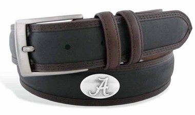 ZeppelinProducts UAL-BBLPS-BLK-34 Alabama Concho Two Tone Leather Belt, 34 Waist from ZEP-PRO