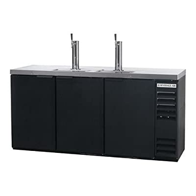 """Beverage-Air DD72Y-1-B 72"""" Black 3-Tap Draft Beer Dispenser"""