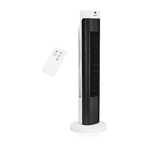 chollos oferta descuentos barato Tristar VE 5999 Ventilador de torre 75 centímetros 45 W función de temporizador blanco y negro