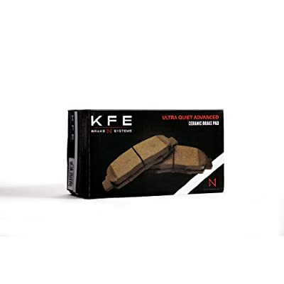 Premium Ceramic Brake Pad Front Set KFE Ultra Quiet Advanced KFE436-104: Automotive