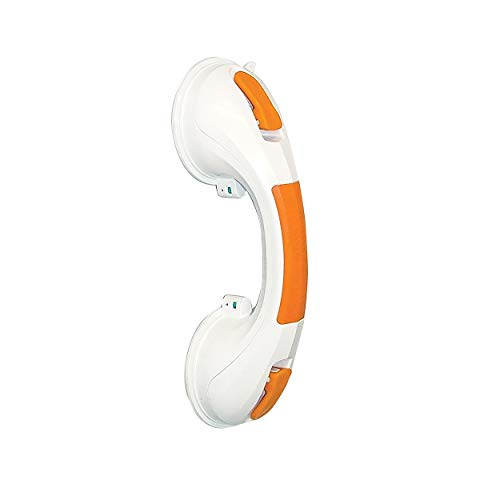 Drive Medical Suction Cup Grab Bar, White/Orange