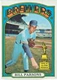 1972 Topps Regular (Baseball) Card# 281 Bill Parsons of the Milwaukee Brewers Ex Condition