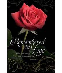 Bulletin-Funeral-Remembered In Love
