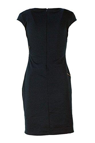 Desigual Kleid Kurzes Candela Woman 18WWVKAV Blue Vest TTUrO6xqFw