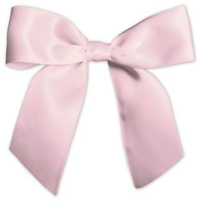 Bows - Pink Pre-Tied Satin Bows, 7/8