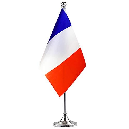 GentleGirl France Flag French Flag Table Flag,Desk Flag,Office Flag,International World Country Flags Banners,Festival Events Celebration,Office Decoration,Desk,Home Decoration -