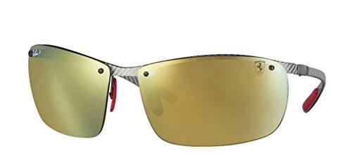 Ray-Ban Men's 0rb8305mf0066b64man Polarized Iridium Square Sunglasses, Light Carbon, 64 - Carbon Fibre Ray Aviator Ban Polarized