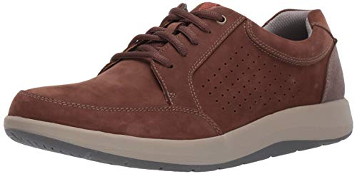 CLARKS Men's Shoda Walk Waterproof Sneaker, Brown Nubuck, 110 W US