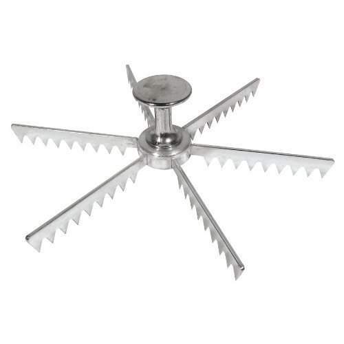 Royal Industries Pie Marker, Cast Aluminum, 6 Cut, Silver, Commercial Grade ()