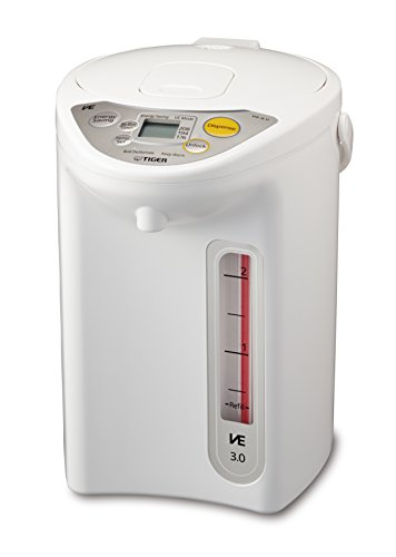 Tiger PIF-A30U-WU VE Micom Electric Water Boiler & Warmer, 3 L, White (Hot Tiger Water Dispenser)