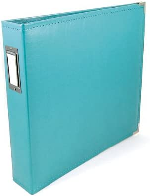 We R Memory Keepers Classic Leather 3-Ring Binder Album Aqua 6 by 6-Inch