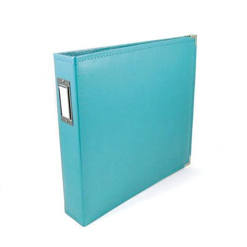 We R Memory Keepers Classic Leather 3-Ring Album - 12x12 inch, Aqua ()