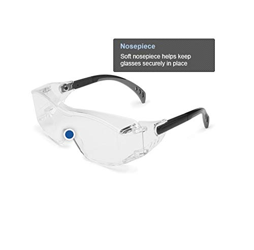 Black Temple Inc IR Filter Shade 5.0 Lens OTG Over-The-Glass Gateway Safety 6966 Cover2 Safety Glasses Protective Eye Wear
