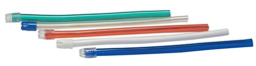 SALIVA EJECTOR ASSORTED COLORS W/ WHITE TIP [SE-7002]