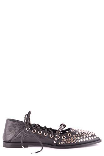 MCQ by Alexander McQueen Women's Mcbi35709 Black Leather Flats