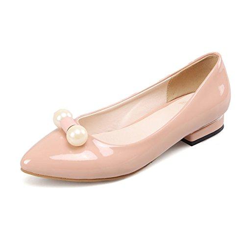 Cómodo departamento señaló zapatos de primavera y verano/zapatos de corte de charol bajo/zapatos de conducción D