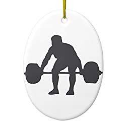 Zazzle Weightlifter Weightlifting Metal Ornament Oval