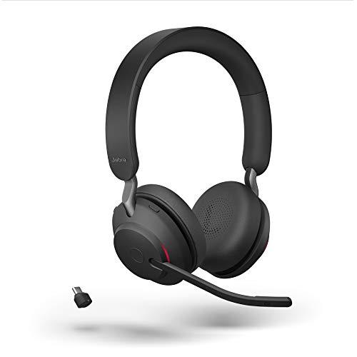 Jabra Evolve2 65 draadloze headset, ruisonderdrukking, Microsoft-teams gecertificeerde stereohoofdtelefoon met duurzame…
