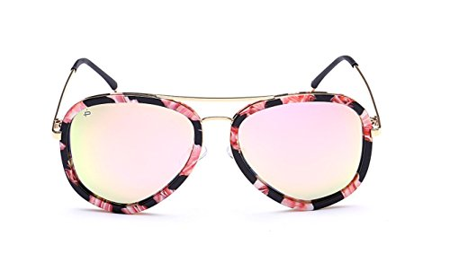 """2d74d831bb PRIVÉ REVAUX """"The Supermodel""""  Limited Edition  Handcrafted Designer  Polarized Brow Bar Sunglasses For Men   Women (Flower) - Buy Online in UAE."""