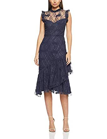 Cooper St Women's Peppermint Lace High Neck Dress, French Navy, 10