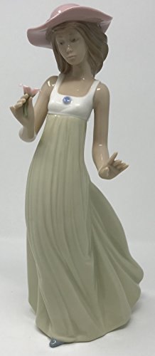 Nao by Lladro Collectible Porcelain Figurine: GENTLE BREEZE - 10'' tall - Girl / Young Lady by Lladro