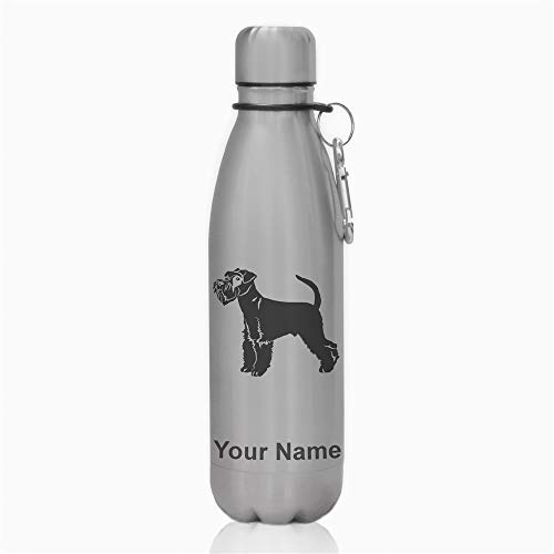 Water Bottle, Schnauzer Dog, Personalized Engraving Included