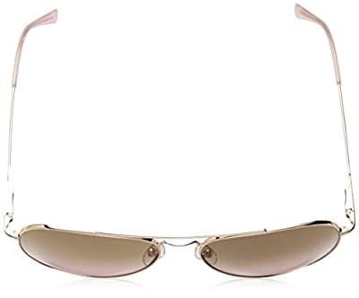 Calvin Klein Ck18105s Aviator Sunglasses, Rose Gold/Pink, 59 mm
