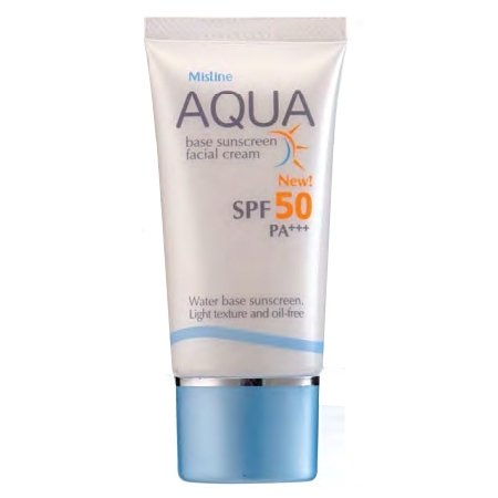 Mistine Aqua Base Sunscreen Facial Cream SPF 50 PA+++ (Hang Ten Rug)